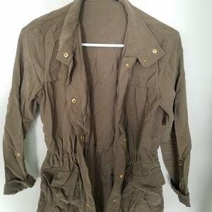 Light fall jacket, army green